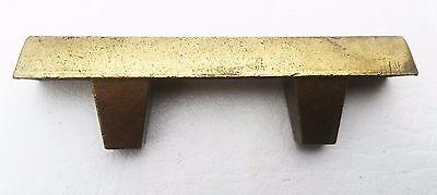 """Brass Mid Century Modern Drawer Pull Vintage  Antique Hardware  1 3/4"""" centers 4"""