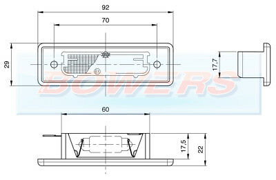 Jokon Rear Number Plate Light Lamp Autotrail Imala Tribute Tracker Motorhome 2