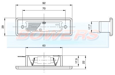 Jokon Recessed Rear Number Plate Light Lamp Elddis Compass Caravan / Motorhome