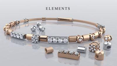 09314f704e BRACCIALE ELEMENTS DONNA Oro rigido bangle in argento 925 rosato Ref.  DFBF4109