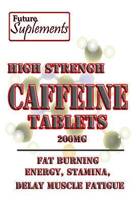 Caffeine pills 200mg, Weight loss, stimulant, 15-30 days, Brain/Mood, Vegetarian 2
