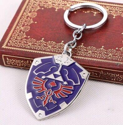 Legend of Zelda Link Hylian Shield Links Logo Metal Keychain Cosplay Key Ring