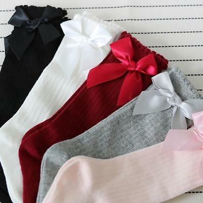 Toddler Kids Baby Girl Knee High Long Soft Warm Tights Socks Stockings Pantyhose 5