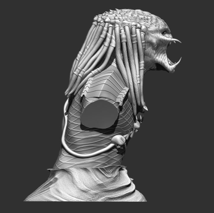 Predator Bust - File Stl 3D printing created ZBrush Compatible with every Slicer 2
