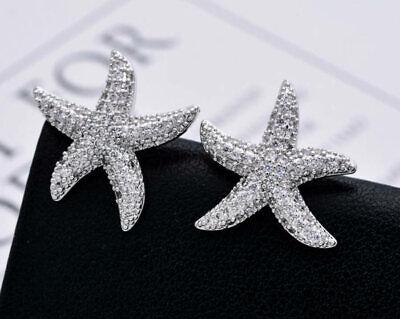 Sterne Ohrstecker Silber 925 Ohrringe Sterne Zirkonia weiß Sterlingsilber sb131