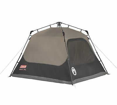 Coleman Outdoor Family Camping 4 Person 8 x 7 Foot Waterproof Instant Cabin Tent 2