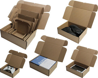 White Or Brown Shipping Cardboard Boxes Postal Mailing Gift Packet Small Parcel 4