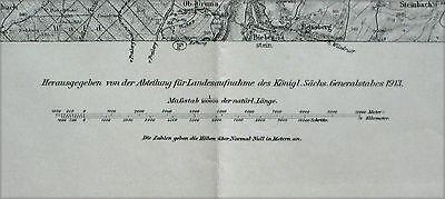 Garnisonsumgebungskarte Riesa, 1:100.000, gedruckt 1913