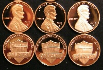 2013 2014 2015 2016 2017 2018 2019 S Lincoln Shield Cent Gem Proof Penny Set 7