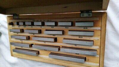 Precision Metric Gauge Block  5 15  25  30 50 70 80 100 mm New class 1 20pc 3