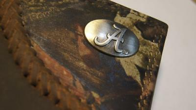 ZEP-PRO Alabama Crimson Tide Roper Leather Fence Row Camo Wallet TIN Gift BOX