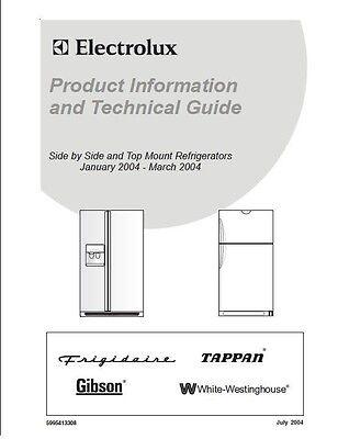 REPAIR MANUAL: ELECTROLUX REFRIGERATORS (choice of 1)