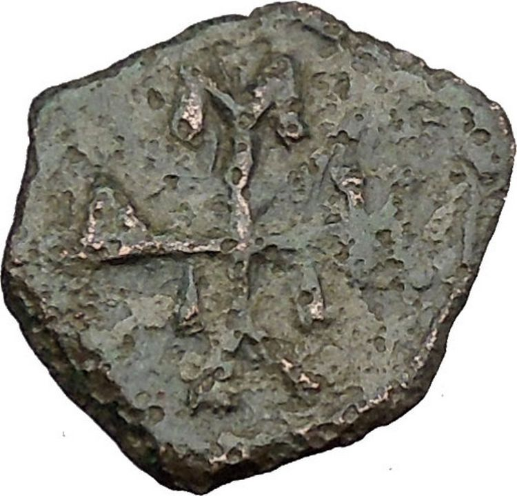 Manuel I , Comnenus  w labarum 1143AD Ancient Byzantine Coin Monogram 58 i38280 2