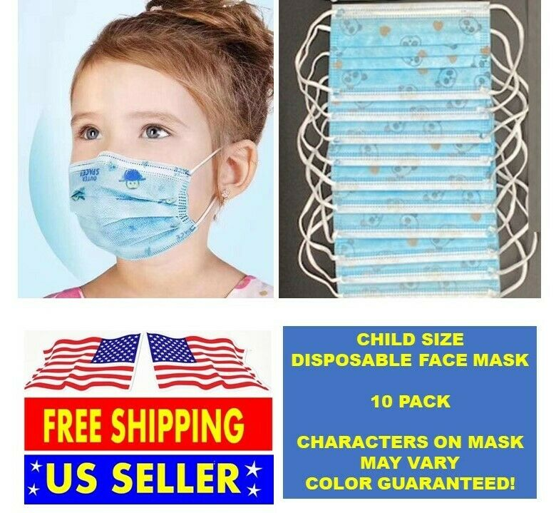 Child Toddler Protective Surgical Face Mask Mouth Medical Disposable 6