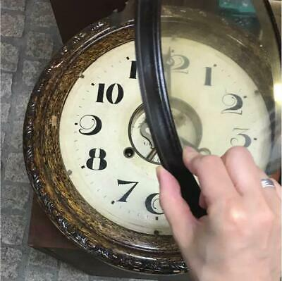Antique Wall Clock Decor Home Decorative Japan Vintage Wooden Very Rare F/S 2