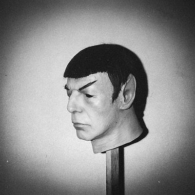 Leonard Nimoy Life Mask from 1975 Don Post Studios Spock Mask not Kirk 75 Myers 5