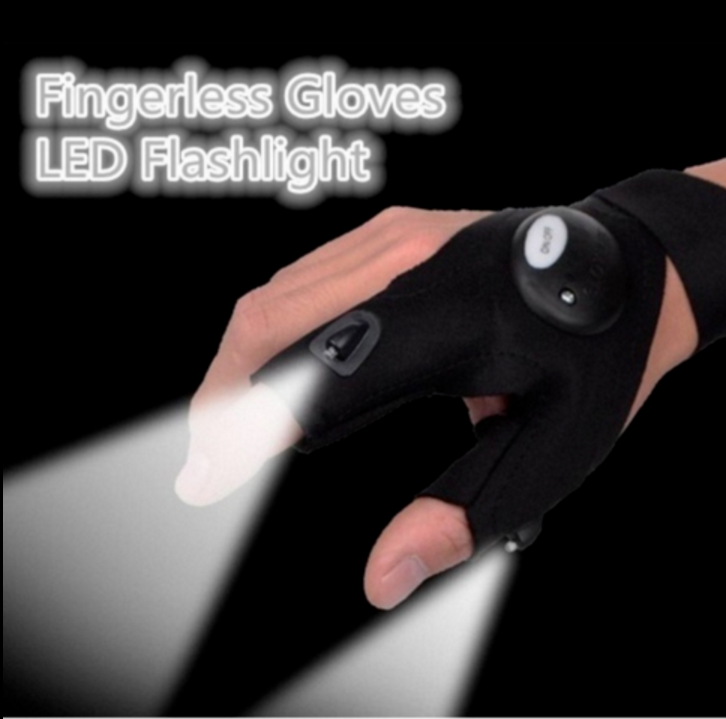 Newly LED Light Finger Lighting Gloves Auto Repair Outdoors Flashing Artifact TR