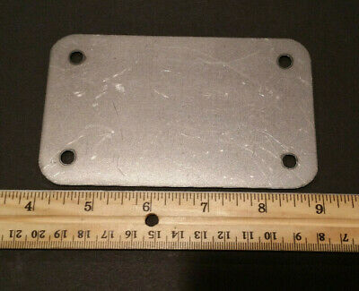 3 x 5 x 16ga inch rectangular flange plate plates steel mounting cover block off 2