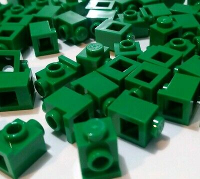 ☀️Lego x100 Modified SAND GREEN 1x1 w// Studs on 2 Sides Opposite Part Bulk Lot #