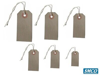 LUGGAGE TAGS Hardware Labels Manila BROWN Buff LARGE STRUNG TAGS All Sizes 3