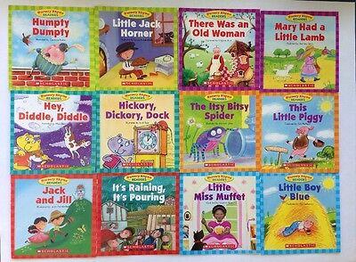 Nursery Rhyme Childrens Books Beginning Readers Lot 12 6