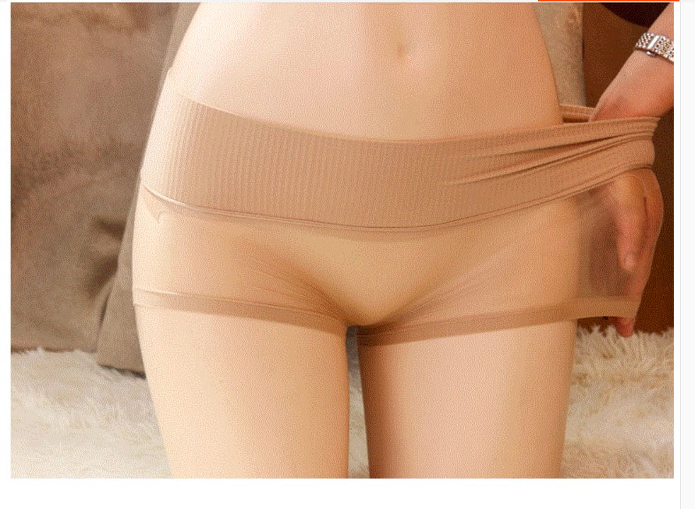 360° Seamless Sexy Velvet Sheer See Through Pantyhose Underwear Boxer Shorts
