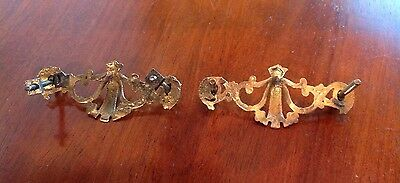 Vintage Drawer Pulls Victorian Style Two Of Them 4