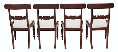 Antique quality set of 4 William IV mahogany bar back dining chairs C1835 4862 2