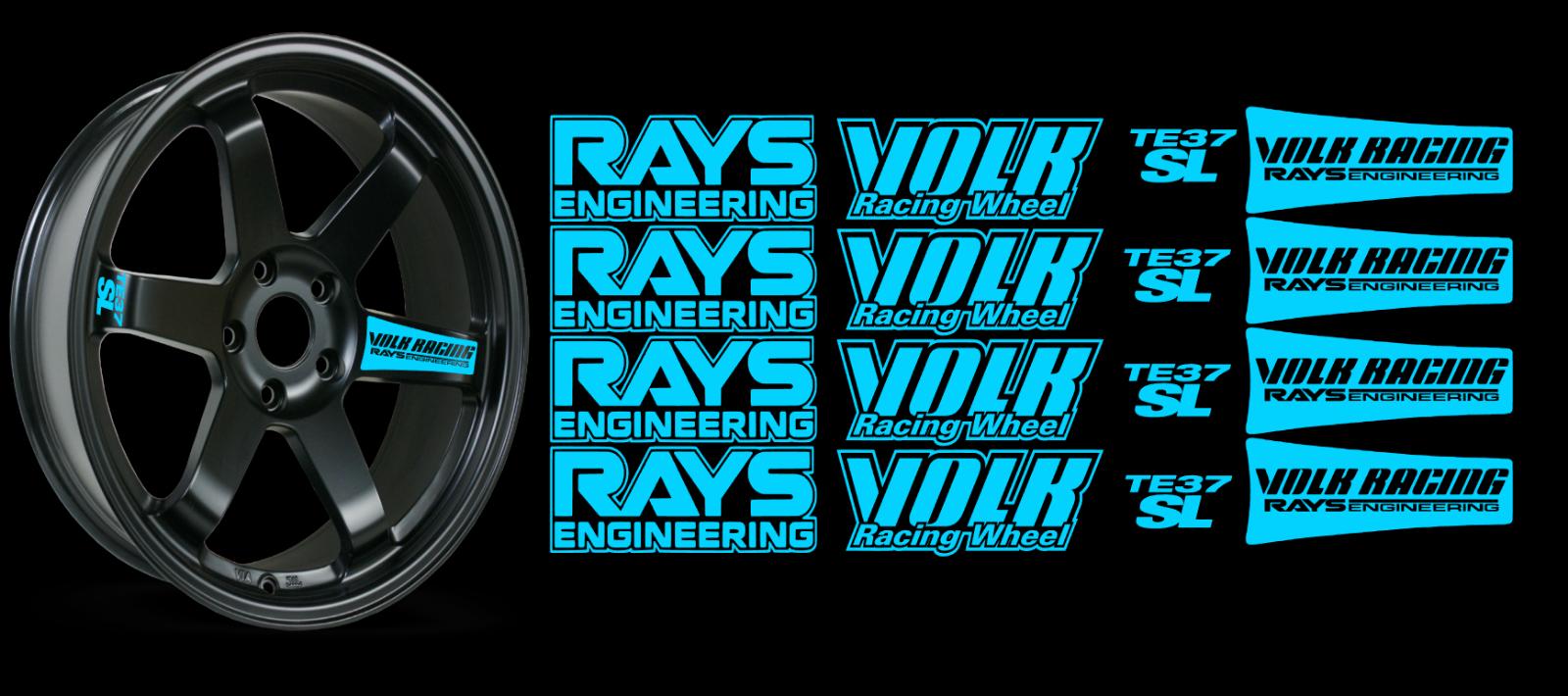 JDM Reflective RAYs VOLK Racing TE37SL Wheel 16 sticker decal Drift 9