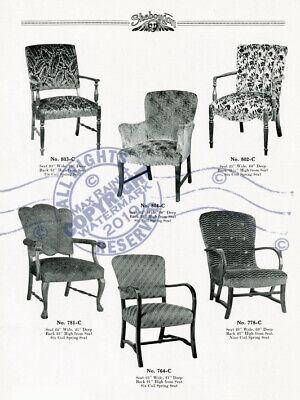 Sheboygan Fiber Furniture 1937 CATALOG Wicker Rattan Upholstered Chairs + Settee 10
