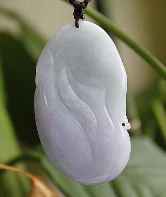CERTIFIED Natural Grade A Lavender Green Jadeite Jade Carved Buddha Pendant 5