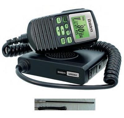 Uniden Uh5060Nb Remote Uhf Radio 80 Ch + Cba2T1 4Wd Antenna New Cb 80Ch Channel 2
