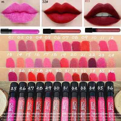 38 Colors Long Lasting Makeup Beauty Waterproof Liquid Lip Gloss Matte Lipstick 2