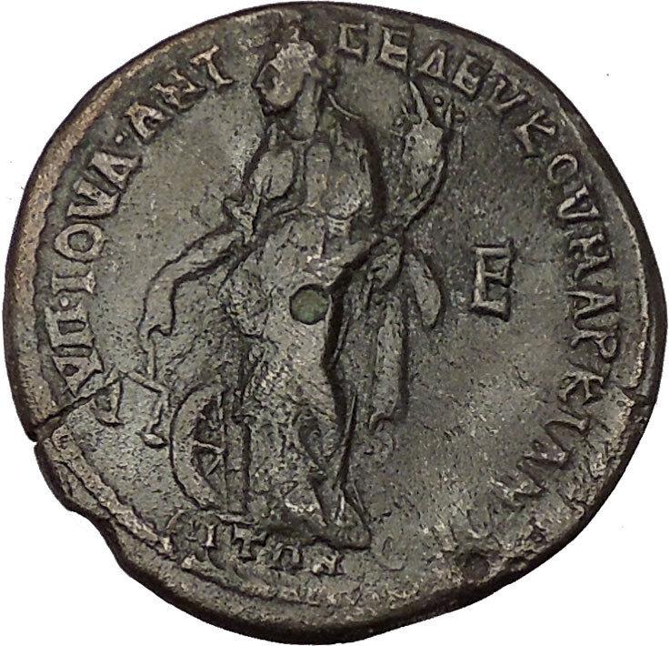 ELAGABALUS and JULIA MAESA 218AD Marcianopolis NEMESIS Ancient Roman Coin i53985 2