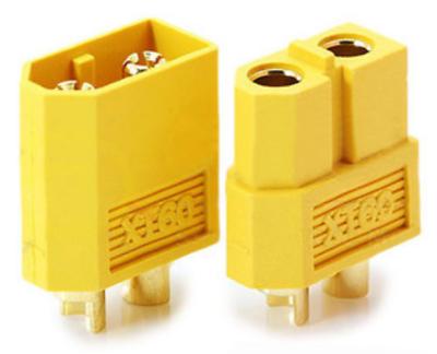 10 Stück (5 Paar) XT60 Nylon ESC Lipo Akku Stecker Buchse + Schrumpfschlauch 60A 7