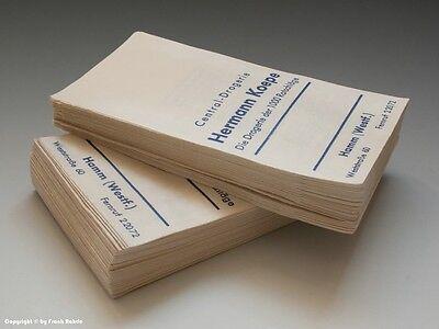 Konvolut etwa 95 gleichartige Tüten aus Drogerie um 1960 (klein)