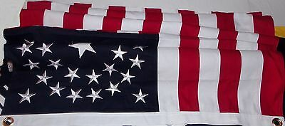 HEAVY COTTON 34 STAR AMERICAN FLAG  embroidered & sewn - HISTORICAL USA 5