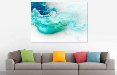 Abstract beautiful Cloud Colorful Painting Canvas Print Home Decor Wall Art GIFT 2