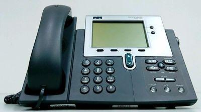 Cisco 7940 Series CP-7940G VoIP PoE Business Phone w/ Handset SIP Firmware 2