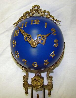 "22""H Cobalt Blue 4"" Ball 8 Day Swinger Movement Arm for Ansonia Swinging Clock 2"
