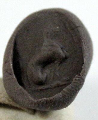 Vintage Amazing Bronze Roman Style Intaglio Gem Ring,copy # 28A 8