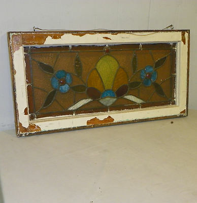 Smaller Antique Stain Glass Window with Jewels 2