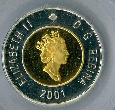 2001 Canada Silver $2 Tooney Pcgs Pr-68 Dcam Spotless .