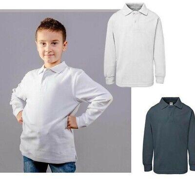 Polo Bambino Manica Lunga In Cotone Bs Maglietta Bambino Persolizzabile 2