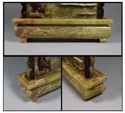 China Old  Ink Stone Screen shoushan stone 硯屏 /  KENBYO / Qing Dynasty 9