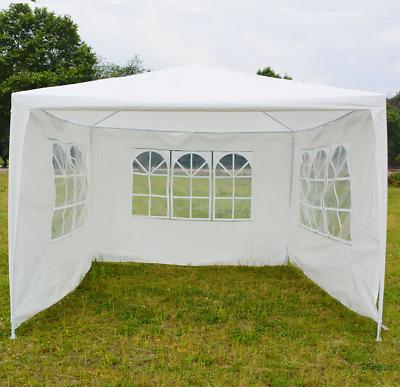 Gazebo 3x3M Heavy Duty Stronger Waterproof Fully Garden Canopy Tent With 4 Sides 2