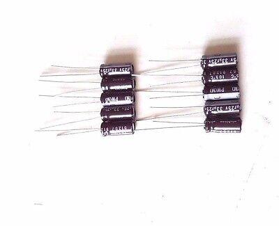 1,000 LOT OF NEW NICHICON ALUMINUM CHIP CAPACITOR UWX1E330MCR1GB 33UF,25V,20/%
