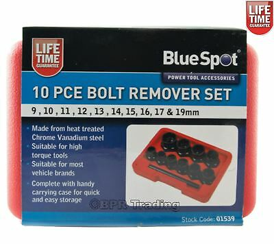 10pc Damaged Nut Bolt Remover Stud Extractor Set Broken Bolt Removal Kit 01539 2