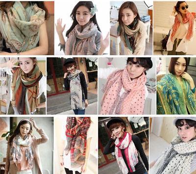 1PC Women Long Neck Large Scarf Wrap Shawl Pashmina Scarves Chiffon Cotton