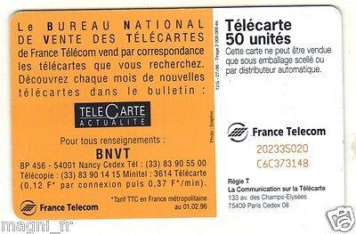 Télécarte - Bureau National de Vente des Télécartes (A3003) 2